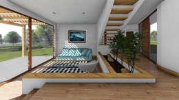 CASA CY: Livings de estilo moderno por EjeSuR Arquitectura