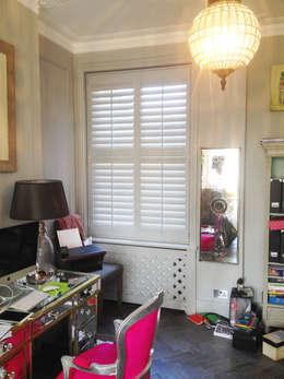 modern Study/office by Plantation Shutters Ltd