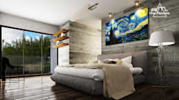 modern Bedroom by RM ARQUITECTURA
