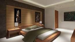 Renders Interiores: Recámaras de estilo moderno por CouturierStudio