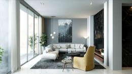 Living room:  غرفة المعيشة تنفيذ Accurate Curves