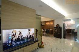 Living Hall: modern Living room by Designer House