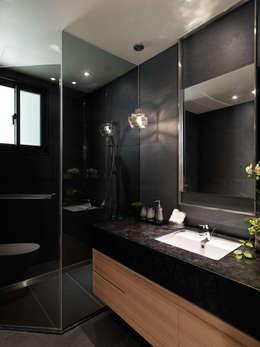 麗寶雙璽:  浴室 by 星葉室內裝修有限公司