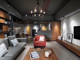 隱藏版第五房 為毛小孩打造專屬貓屋:  客廳 by 星葉室內裝修有限公司