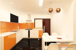 Kitchen & Dine: modern Kitchen by Kredenza Interior Studios