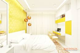 Son's Bedroom: modern Bedroom by Kredenza Interior Studios
