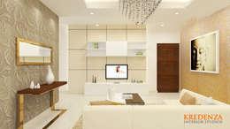 Living Room: modern Living room by Kredenza Interior Studios