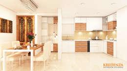 Kitchen & Dining: modern Kitchen by Kredenza Interior Studios