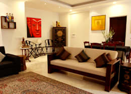 An apartment in Central Park 1, Gurgaon: modern Living room by stonehenge designs