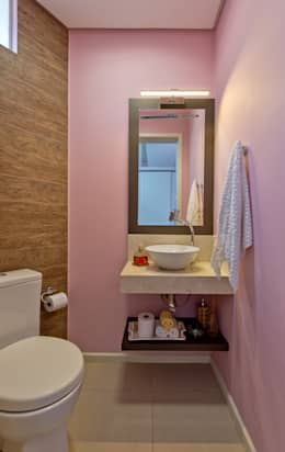 Apto Saco dos Limões F.L.S.: Banheiros modernos por Kris Bristot Arquitetura