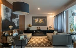 Cobertura Sion: Salas de estar modernas por Andréa Buratto Arquitetura & Decoração