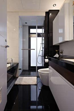 白色巧克力 white chocolate:  浴室 by 耀昀創意設計有限公司/Alfonso Ideas