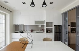 宜蘭健康屋 義式、美式:  廚房 by 耀昀創意設計有限公司/Alfonso Ideas