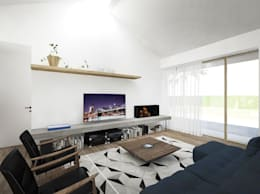 minimalistic Living room by Didonè Comacchio Architects
