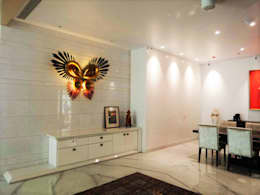Ganapati Sthan: eclectic Dining room by bhatia.jyoti