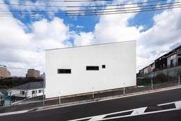 西面外観: 株式会社seki.designが手掛けた家です。