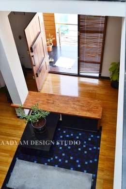 Entrance : minimalistic Living room by Aadyam Design Studio