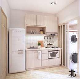 Projekty,  Kuchnia zaprojektowane przez เหนือ ดีไซน์ สตูดิโอ (North Design Studio)