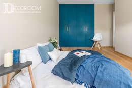Mieszkanie z hiszpańską duszą : styl , w kategorii Sypialnia zaprojektowany przez Decoroom