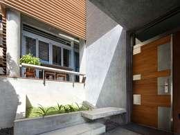 外玄關:  房子 by 前置建築 Preposition Architecture