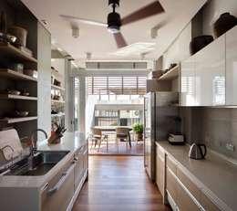 Projekty,  Kuchnia zaprojektowane przez 前置建築 Preposition Architecture