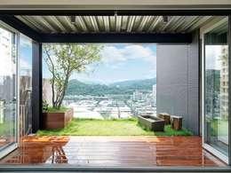 Projekty,  Taras zaprojektowane przez 前置建築 Preposition Architecture