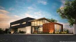 Fachada Principal: Casas de estilo moderno por Diez y Nueve Grados Arquitectos