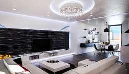 Salas / recibidores de estilo moderno por Denis Confalonieri - Interiors & Architecture