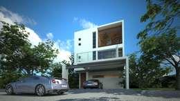la ceiba: Casas de estilo minimalista por sanmartiarquitectos
