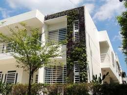 JARDINES VERTICALES: Paredes de estilo  por Elementum Arquitectos SAS