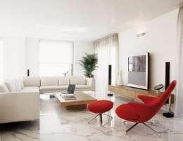 Salas / recibidores de estilo moderno por Cappelletti Architetti