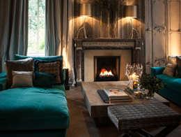 Projekty,  Salon zaprojektowane przez Clearfire - Lareiras Etanol