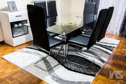 Sala de Jantar - Senhora da Hora, Matosinhos: Sala de jantar  por IAS Tapeçarias