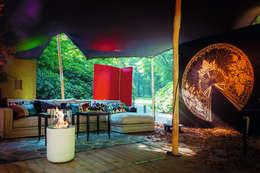 Fabricámos lareiras para a sua casa de sonho!: Jardim  por Clearfire - Lareiras Etanol