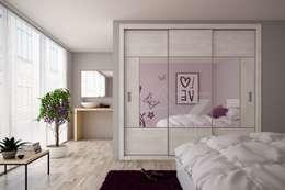 armario empotrado a medida de 3  puertas correderas: Dormitorios de estilo moderno de Industrias del armario Vifren S.L.