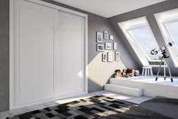 armario empotrado a medida de 2 puertas correderas blanco: Dormitorios de estilo colonial de Industrias del armario Vifren S.L.