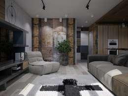 客廳 by Interior designers Pavel and Svetlana Alekseeva