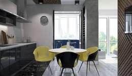 Projekty,  Kuchnia zaprojektowane przez Interior designers Pavel and Svetlana Alekseeva