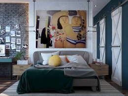 Cuartos de estilo  por Interior designers Pavel and Svetlana Alekseeva