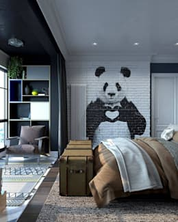 industrial Bedroom by Interior designers Pavel and Svetlana Alekseeva