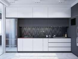 Nhà bếp by Interior designers Pavel and Svetlana Alekseeva
