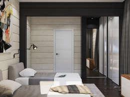 Dormitorios de estilo  por Interior designers Pavel and Svetlana Alekseeva