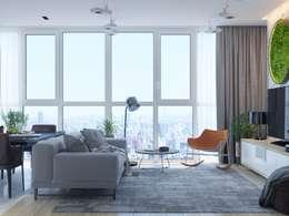 Salas de estar minimalistas por Interior designers Pavel and Svetlana Alekseeva