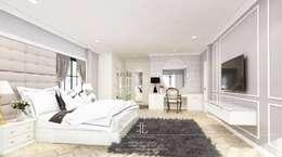 Phòng ngủ by เหนือ ดีไซน์ สตูดิโอ (North Design Studio)