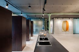 industrial Dining room by arcs architekten