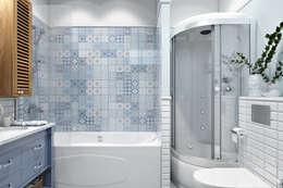 Проспект Кима Дом Архитектора Лидваля 1920-го года постройки: Ванные комнаты в . Автор – Дарья Баранович Дизайн Интерьера
