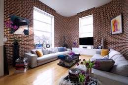 غرفة المعيشة تنفيذ JKG Interiors