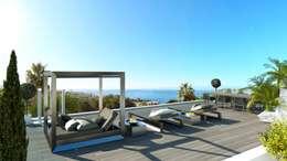 Refurbishment of existing house and pool in Santa Ponsa:  Patios & Decks by Tono Vila Architecture & Design