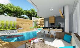 Projeto Arquitetura Residencial AR17: Terraços  por arquiteto bignotto