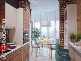 ПАНОРАМА СКОЛКОВО, МЯГКИЙ LOFT: Кухни в . Автор – Loft&Home